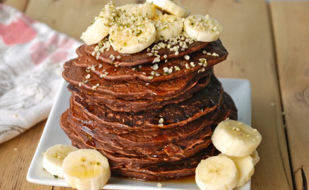 chocolate banana protein pancakes recipe